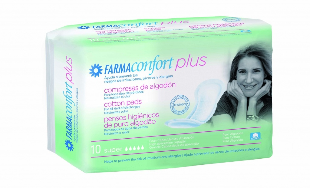 Farmaconfort plus compresa super 10 incontinencia ligera
