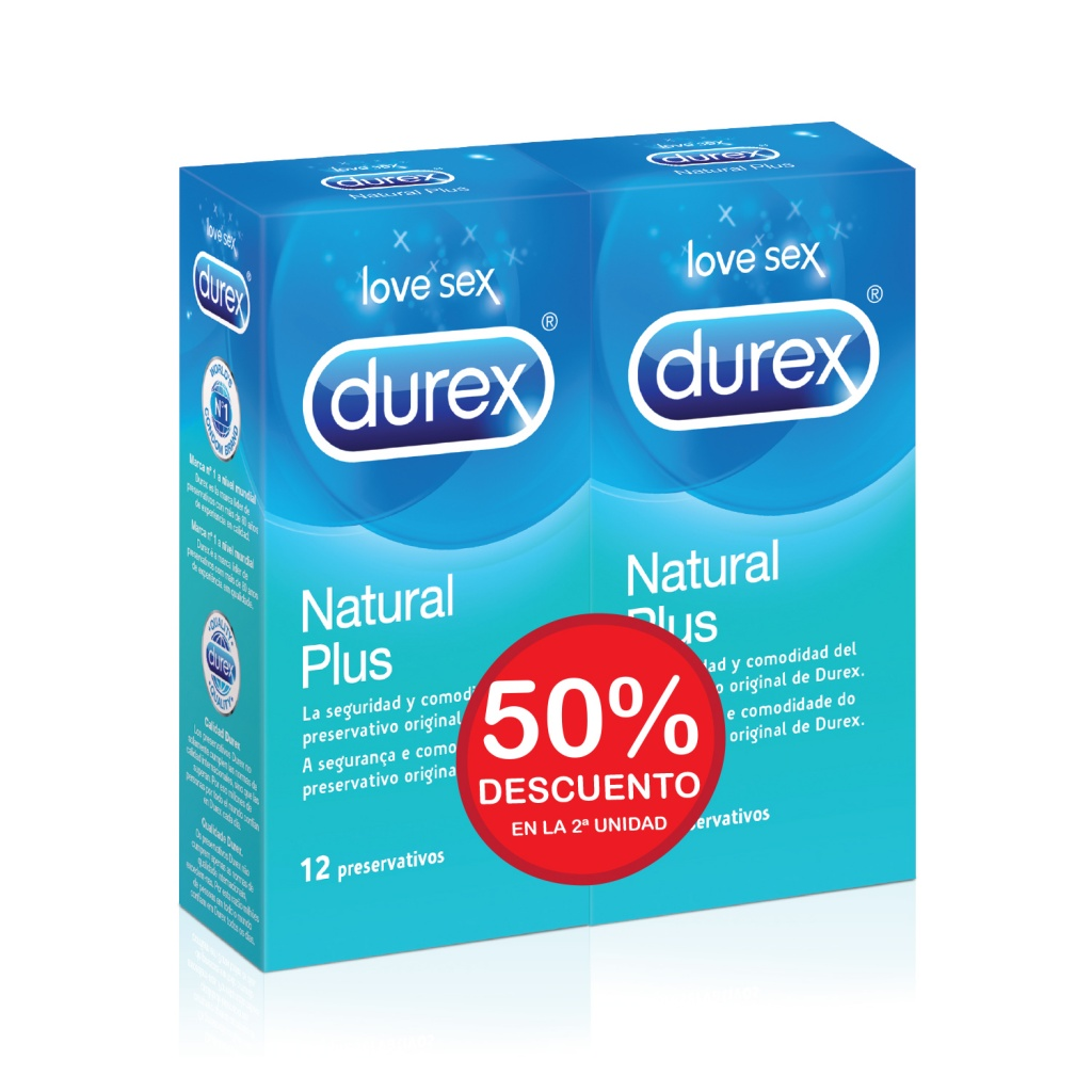 Durex Preservativos duplo natural plus Easy On 12 unidades