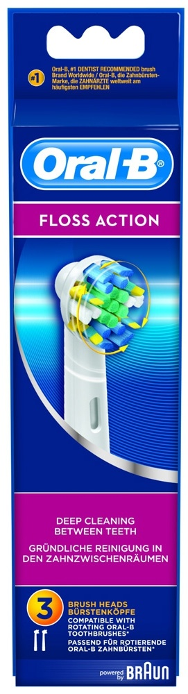 Oral-B recambio cepillo electrico ebi-25 flossaction 3 uds