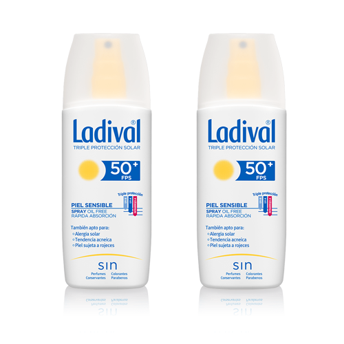 Ladival Protector Solar Piel Sensible Spray FPS50+ 150 ml Pack 2ªunidad al 50%