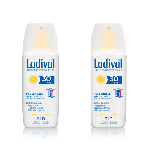 Ladival Protector Solar Piel Sensible Spray FPS30 150 ml Pack 2ªunidad al 50%