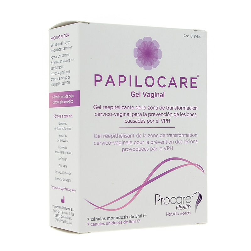 Papilocare Gel Vaginal 7 cánulas de 5 ml