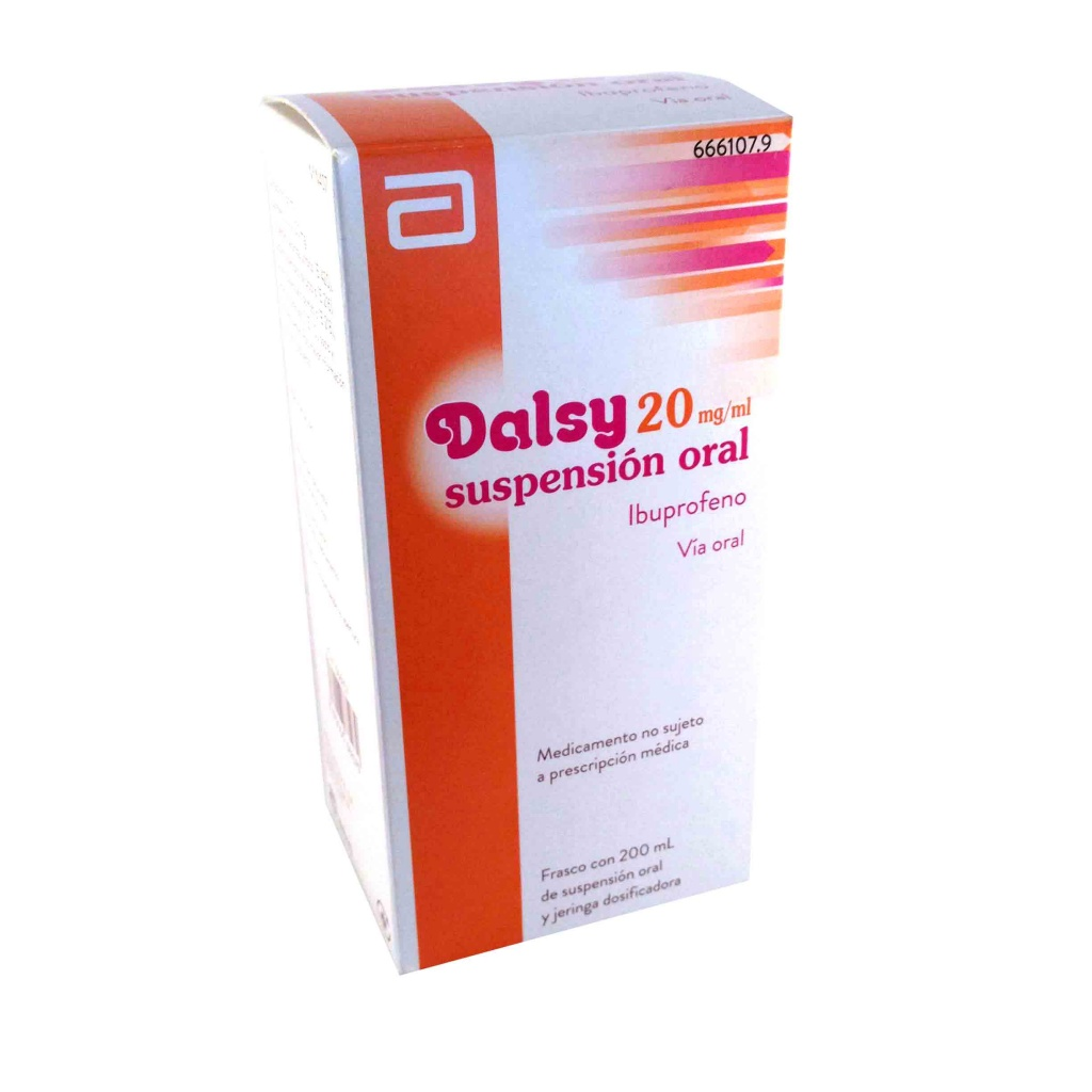 Dalsy 20 mg/ml Ibuprofeno en suspensión oral 200 ml