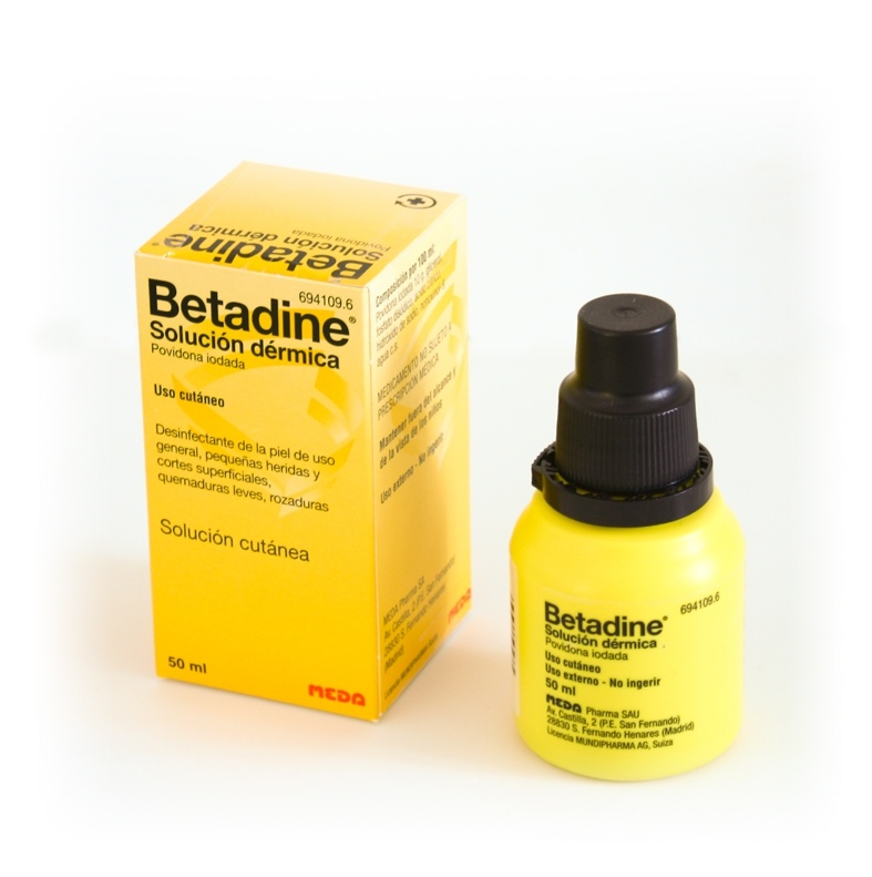 Betadine 100 mg/ml solución tópica 50 ml