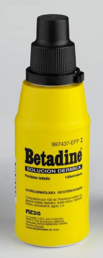 Betadine 100 mg/ml solución tópica 125 ml