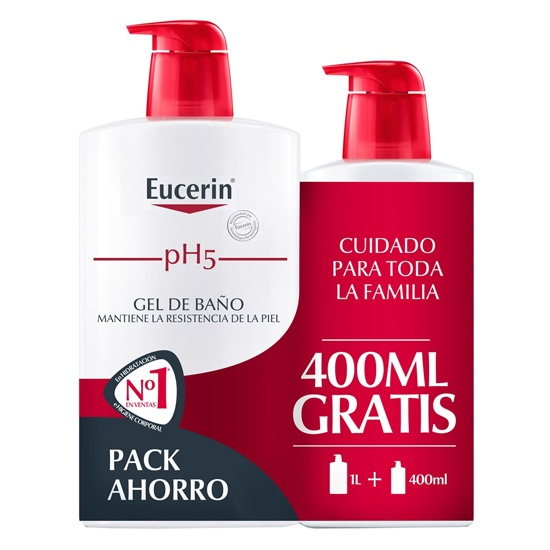 Eucerin Ph5 Gel Baño Dosificador 1000 Ml + 400 Ml