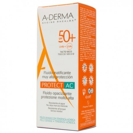Aderma Protect-Ac Fluid Matificante 50+ 40 Ml