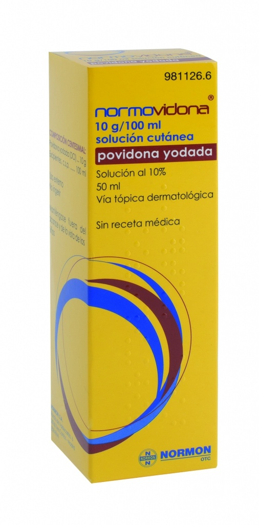 Normovidona 100 mg/ml solución tópica 50 ml