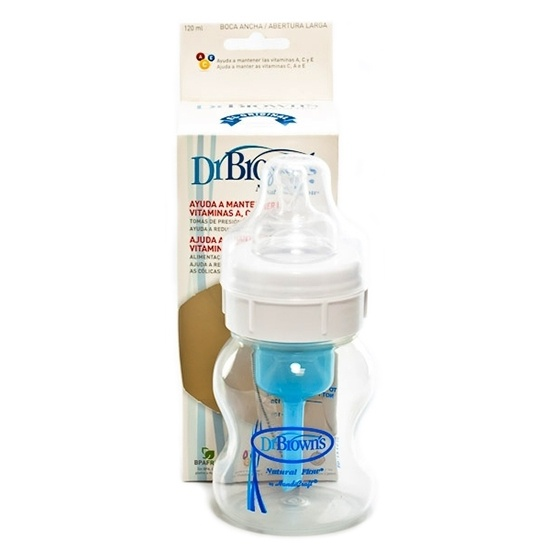 Biberón Boca Ancha Pp Transparente Dr Brown 120 Ml
