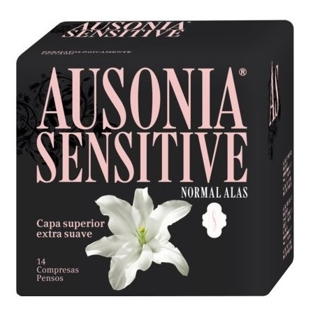 Compresas Ausonia Sensitive Normal Alas 14 Unidades