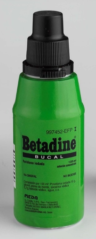 Betadine Bucal 100 mg/ml solución tópica 125 ml