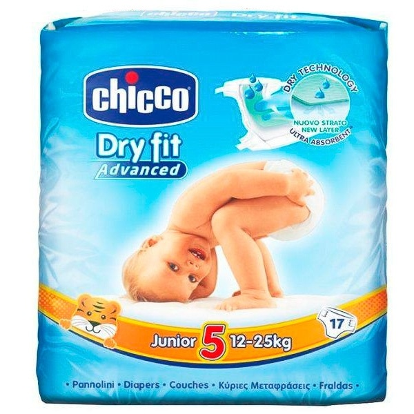 Pañal Dry Fit Junior Chicco 12-25 Kg
