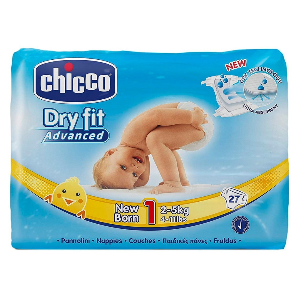 Pañal Dry Fit New Born Chicco 2-5 Kg