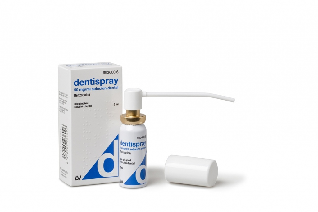 Dentispray 50 mg/ml aerosol bucal 5 ml