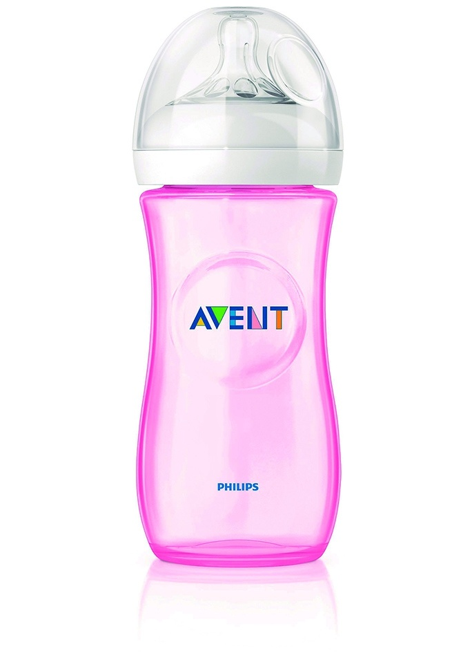 ****Philips Avent biberón natural rosa 330 ml