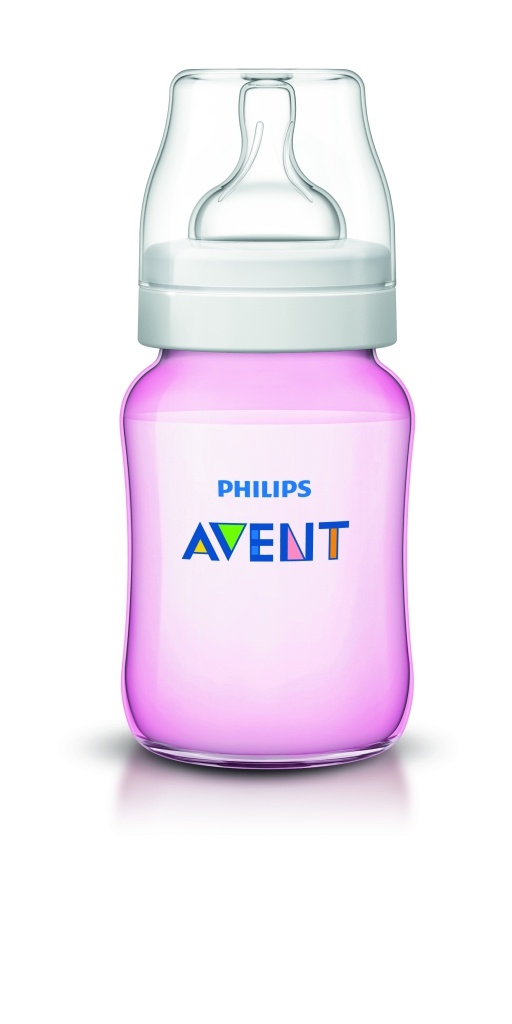 ****Philips Avent biberón clasic rosa 260 ml
