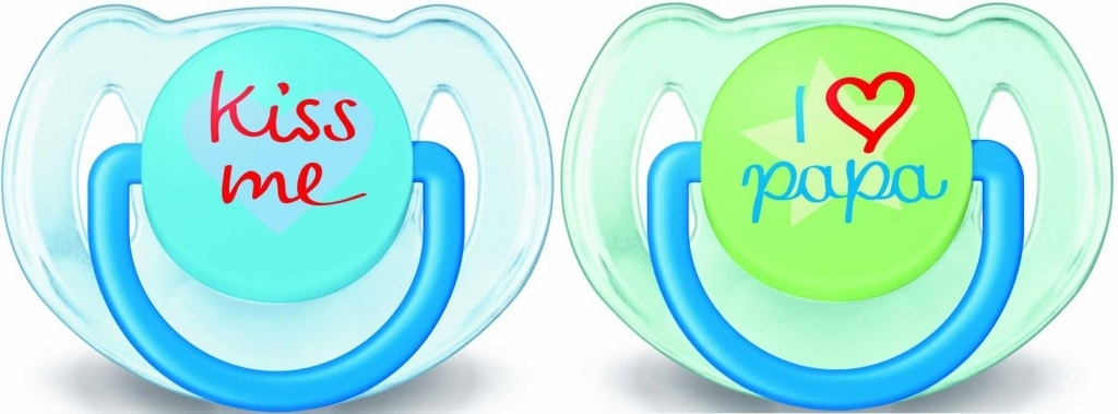 Philips Avent chupete decorado I Love/Kiss niño 6-18M 2 unidades