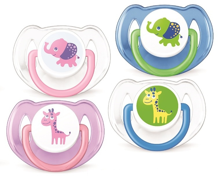 ****Philips Avent chupete decorado animales 6-18M 2 unidades