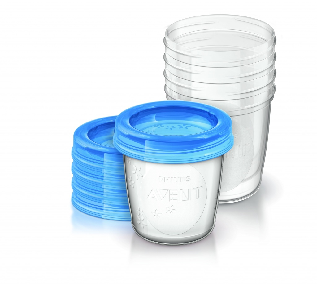 Philips Avent recipientes via 240 ml 5 unidades