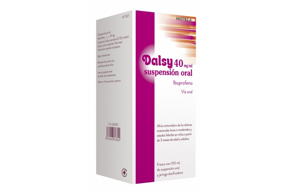 Dalsy 40 mg suspension oral 150 ml